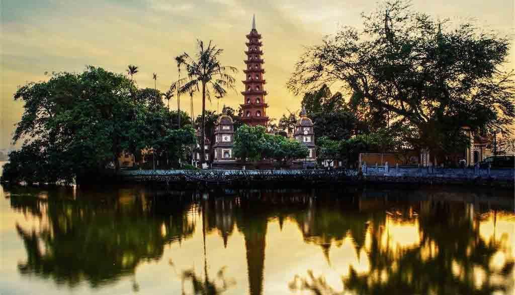 Vietnam Reisen - Die Tran Quoc Pagode in Hanoi