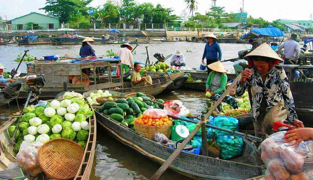 Vietnam Reisen - Die schwimmenden Märke von Cai Rang, Mekong Delta (Originalbild Mirango Travel)