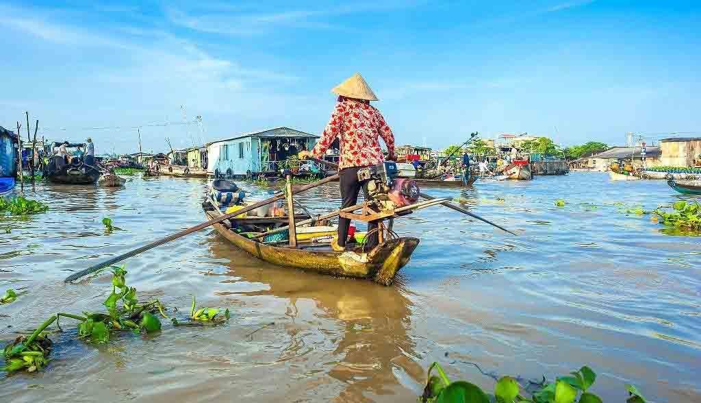 Vietnam Reisen - Ruderboote auf dem Mekong