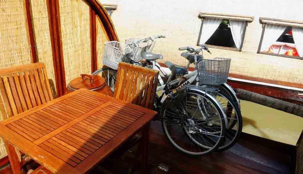 Vietnam Reisen - Sie haben Ihre eigenen Velos auf dem Schiff (Originalbild Mirango Travel)